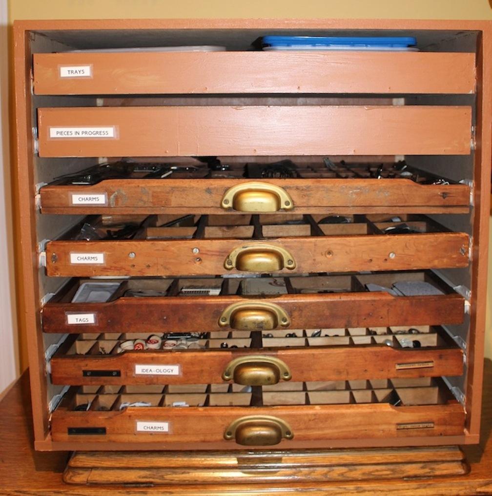 Creative Craft Supply Storage With Printersu0027 Trays